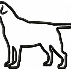Labrador-standing-Applique-embroidery-design