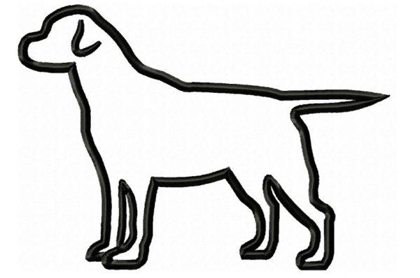 Labrador-standing-Applique-embroidery-design