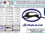 Chevy-impala-embroidery-logo-infochart