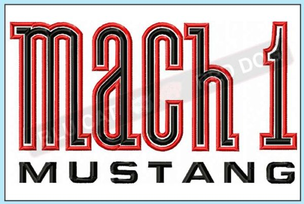 mustang-mach-1-logo-embroidery-design-blucatreddog.is