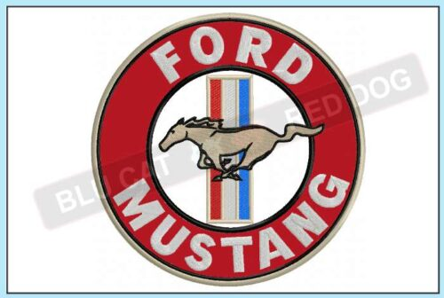 Ford-mustang-embroidery-logo-blucatreddog.is