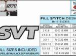 Mustang-SVT-embroidery-logo-infochart