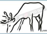 deer-grazing-embroidery-outline-blucatreddog.is