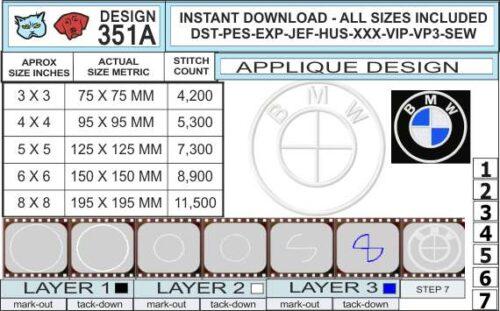 BMW-embroidery-applique-design-infochart
