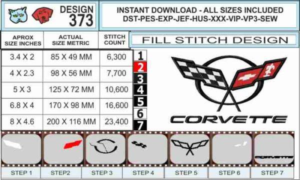 corvette-c5-embroidery-logo-spec