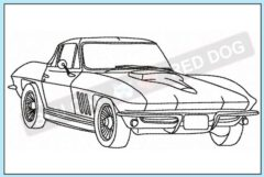 corvette-c2-profile-embroidery-design-blucatreddog