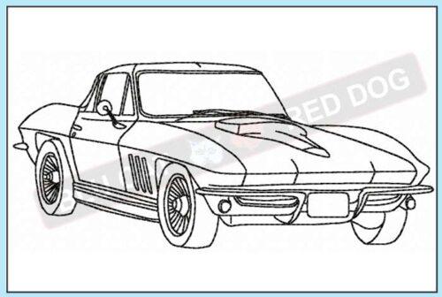 corvette-c2-profile-embroidery-design-blucatreddog