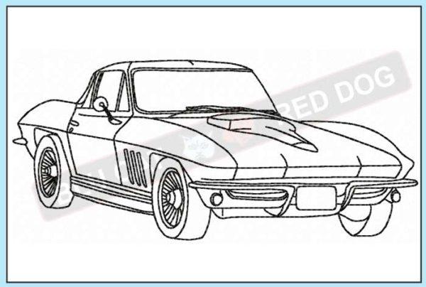 corvette-c1-1965-redwork-embroidery-design-blucatreddog