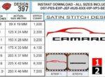 chevy-camaro-outline-embroidery-design-infochart