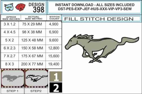 Mustang-embroidery-design-infochart
