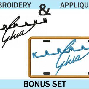 VW-Karmann-Ghia-Logo-Embroidery-&-applique-designs-set