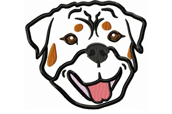 Rottweiler-Head-applique-design