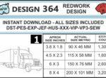 40-foot-truck-embroidery-redwork-design-infochart
