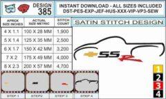 chevy-ssr-truck-logo-embroidery-design-infochart