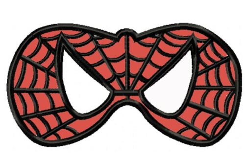 Spiderman-Mask-In-the-Hoop-Applique-Embroidery-Design