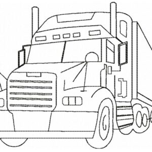 Truck-40-foot-Outline-silhouette-redwork-embroidery-design