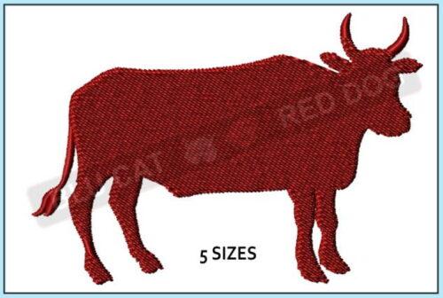 bull-silhouette-embroidery-design-blucatreddog.is