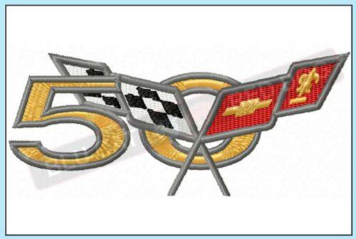 Corvette-50-years-embroidery-design-blucatreddog