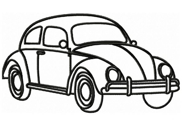 Volkswagon-beetle-outline-embroidery-design