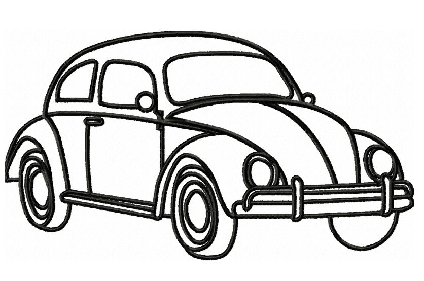Vw Beetle Embroidery Outline