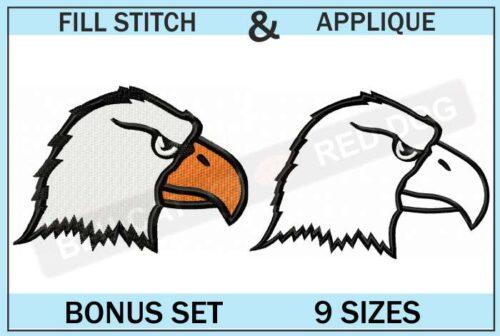 eagle-head-embroidery-logo-set-blucatreddog.is