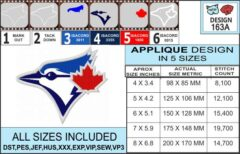 toronto-blue-jays-applique-design-infochart