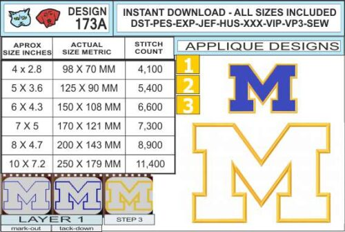 michigan-wolverines-applque-design-infochart