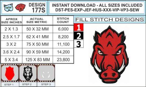 arkansas-razorbacks-embroidery-design-infochart