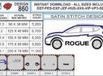 nissan-rogue-embroidery-design-infochart