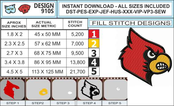 louisville-cardinals-embroidery-design-infochart