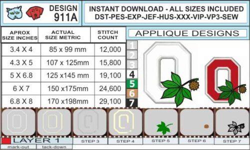 Ohio-state-buckeyes-embroidery-logo-infochart