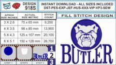 butler-bulldogs-embroidery-design-infochart