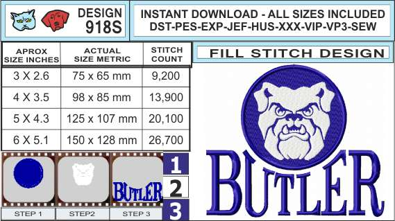 butler-bulldogs-embroidery-design-infochart