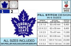 toronto-maple-leafs-embroidery-design-infochart