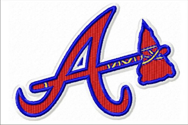 Atlanta Braves - Embroidery Designs - Machine Embroidery - Baseball Logo - 5 sizes included - Instant Digital Download