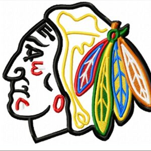Chicago-Blackhawks-logo-applique-designs