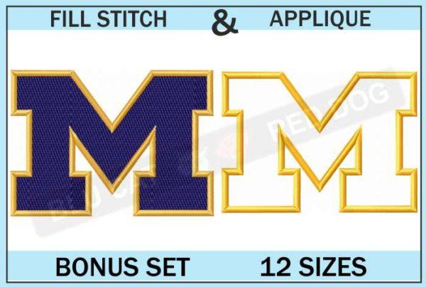Michigan Wolverines Embroidery Logo Set