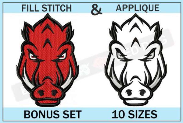 arkansas-razorbacks-secondary-logo-set-blucatreddog.is