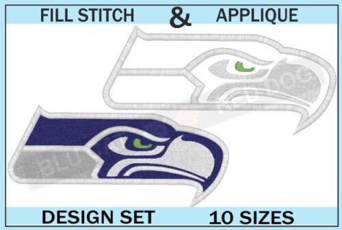 seattle seahawks-embroidery-logo-set-blucatreddog.is