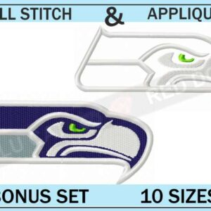 seattle seahawks-embroidery-logo-set-blucatreddog.is