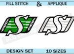 saskatchewan-ruffriders-embroidery-logo-set-blucatreddog.is