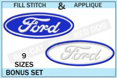 Ford-embroidery-logo-set-blucatreddog.is