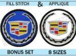 cadillac-embroidery-logo-set-blucatreddog.is