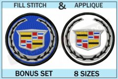 cadillac-embroidery-logo-set-blucatreddog.is