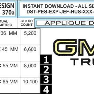 gmc-truck-embroidery-logo-applique-infochart