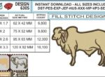 brahman-cow-embroidery-design-infochart-infochart