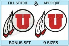 utah-utes-embroidery-logo-set-blucatreddog.is