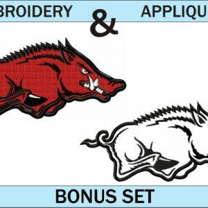 Arkansas-Razorbacks-logo-embroidery-and-applique-designs-bonus-set
