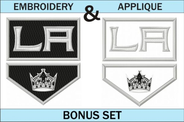 LA-kings-logo-embroidery-and-applique-designs-bonus-set
