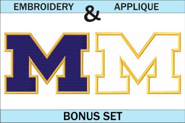 Michigan-Wolverines-logo-embroidery-and-applique-designs-bonus-set